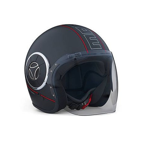 Casque MOMO DESIGN MANGUSTA- Coloris noir mat/ filet rouge uniquement